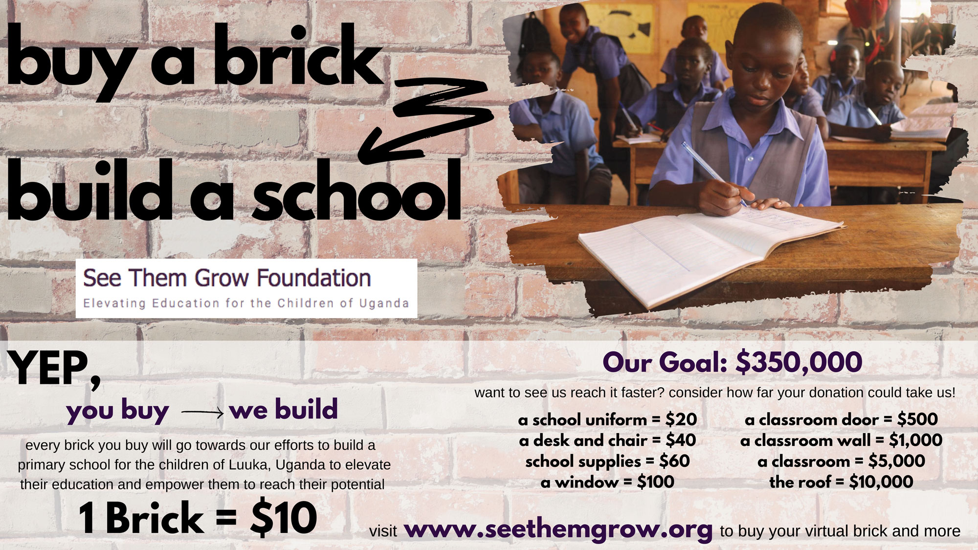 Buy a Brick build a School